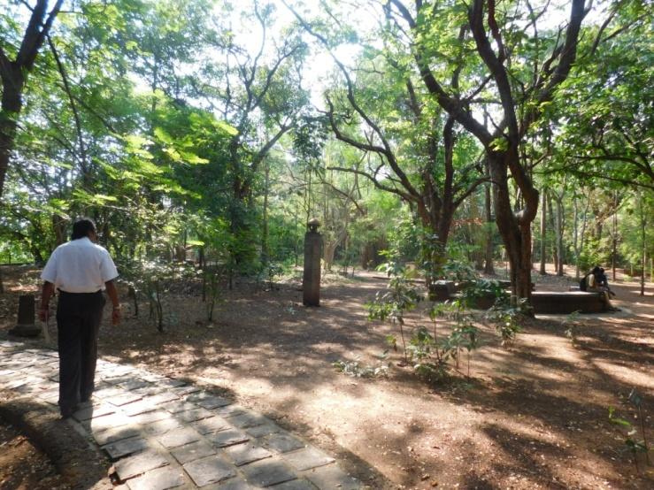 Inside the garden